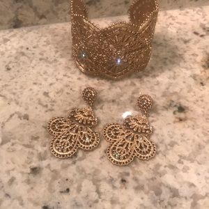 Chloe and Isabel  earrings & cuff bracelet
